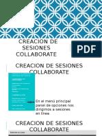 Creacion de Sesiones Collaborate
