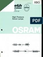 Osram XBO High Pressure Xenon Lamps Catalog 1977