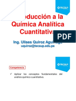 CLASE 01 Introducción a La Química Analítica Cuantitativa