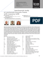 Theoretical/experimental study of reinforced-concrete frame with masonry infill