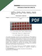 Informe Hemoaglutinación Directa