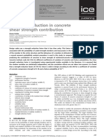 Assessing reduction in concrete shear strength contribution