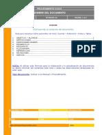 Formato Para Elaboracion de Manuales y Procedimientos