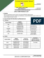DENSO Common Rail Isuzu 4HK1 6HK1 Service Manual Pages