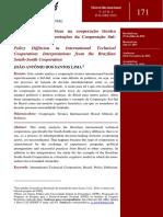 A Difusão de Políticas Na Cooperação Técnica Internacional