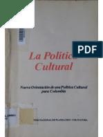 La Política Cultural - Planeación y Colcultura-23p