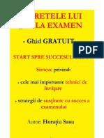 SECRETELE LUI 10 LA EXAMEN - GHID GRATUIT