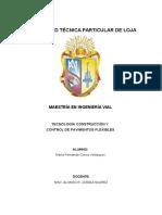 TRABAJO DE ¨TECNOLOGÍA CONSTRUCCIÓN Y CONTROL DE  PAVIMENTOS FLEXIBLES¨ LABORAT