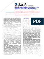 Conceptual and Aerodynamic Design of a Uav for Superficial Volcano Monitoring