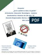 Proyecto de Articulación Tecnología y Química ESJA