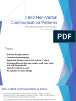 Oral and Non-Verbal Communication Patterns