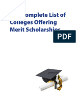 Complete List of Colleges Merit Scholarships Website