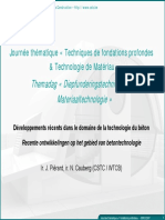3 Technologie Du Beton Developpement Recents J Pierard
