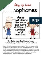 Homophone Sort