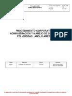 Procedimiento Corporativo de Administración y Manejo de Sustancias Peligrosas