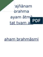 mahavakyas