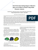 Evaluation of Helmet Protection during Impact of Head to Ground and Impact of an Object to Head Using Finite Element Analysis