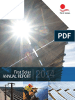 First Solar 2014 Annual Report Bookmark - Final