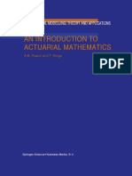 K. Gupta, T. Varga (Auth.)-An Introduction to Actuarial Mathematics (2002)
