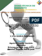 5.Decisiones en Proceso de Produccion