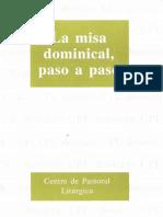 La Misa Dominical, paso a paso. Lligadas-Gomis. CPL