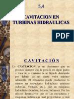 5.4 Cavitacion en Turbinas Hidraulicas