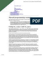 Thread Programming Examples