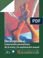 Decalogo Para El Tratamiento Periodístico de La Trata y La Explotación Sexual
