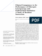 Clinical Competence in the Performance of Fiberoptic Laryngoscopy and Endotracheal Intubation[1]