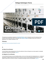 Medium Voltage Switchgear Glossary