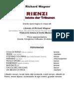 Rienzi Lib Bil - Libretto Italiano Wagner