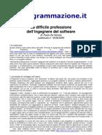 La Difficile Professione Dell'Ingegnere Del Software