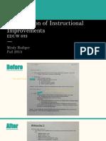 presentation of instructional improvements eduw 693