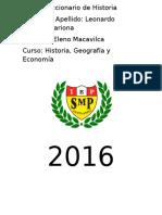 Diccionario de Historia Leonardo Ramirez