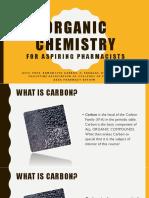 Organic Chemistry for Aspiring Pharmacists PART 1
