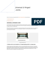 What Are Universal & Hinged Expansion Joints