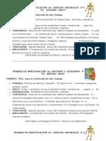 Trabajo de Investigación de Ciencias Naturales e Historia 4