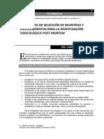 ARV_Algoritmo de Selecc de Muestras y Proced Para Inv Toxicolog Postmortem LAMPARELLI