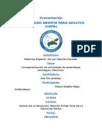 Tarea IV de Didactica en La CienciSociales