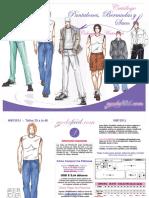Catalogo de Patrones de Pantalones, Bermudas, Sacos y Chaquetas Modafacil DIY