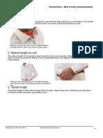 Mens Body Measurements