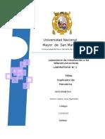 Informe de Laboratorio - Duplicador de Frecuencia