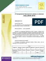 AULLIDOS  Circular Nº2 Programa