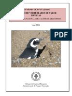 Resumen de avistajes de especies de vertebrados de valor especial de los Parques Nacionales patagónicos Argentinos