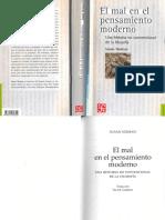 Neiman, Susan - El Mal en El Pensamiento Moderno. Una Historia No Convencional de La Filosofía