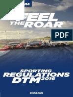 2016 DTM Reglement Sportlich Englisch