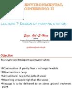 Lec 7-Week 4- ( Design of Pumping Station)