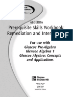 PreAlgebra Skills