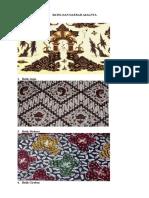 Batik Dan Produk Dan Daerah Asalnya