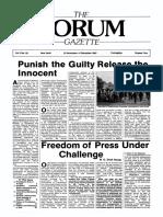 The Forum Gazette Vol. 2 No. 22 November 20-December 4, 1987